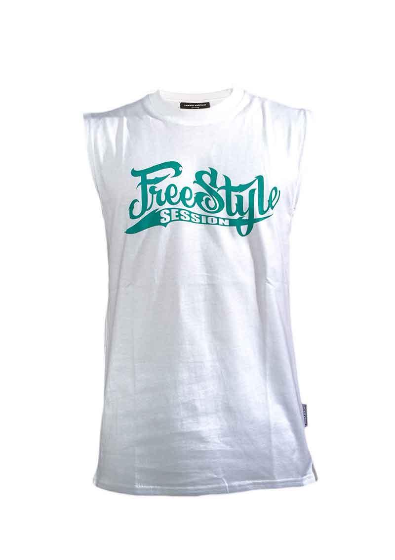 UNDERWORLD X Freestyle Session Tank Top White