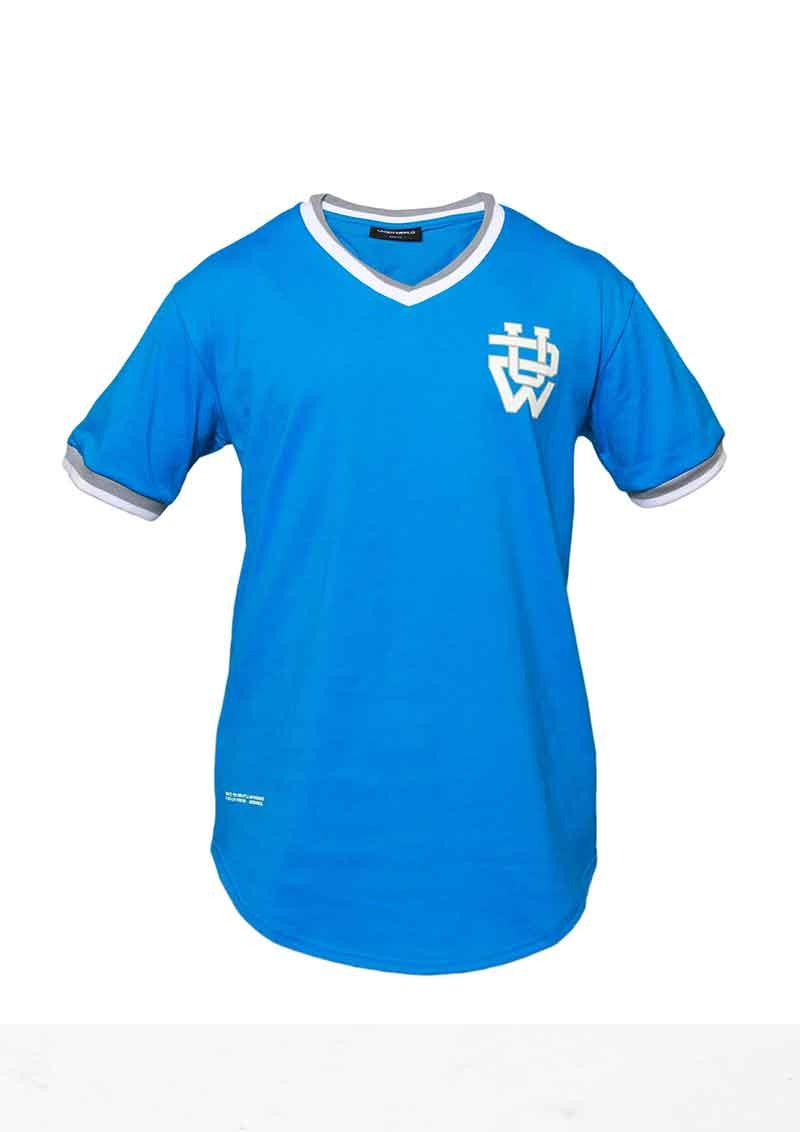 UNDERWORLD Baseball T-Shirt Blau