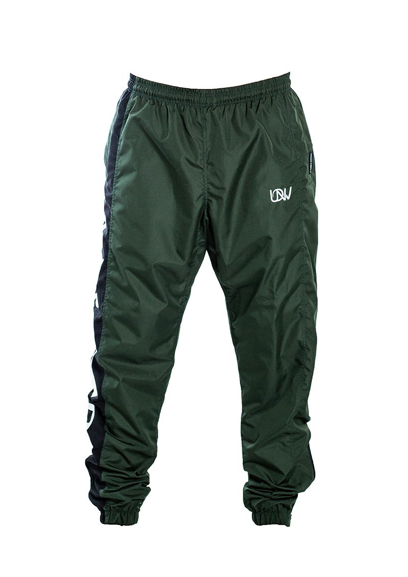 "Men's Windbreaker Training Pants Model F3 ""Logo"" Olive Green"