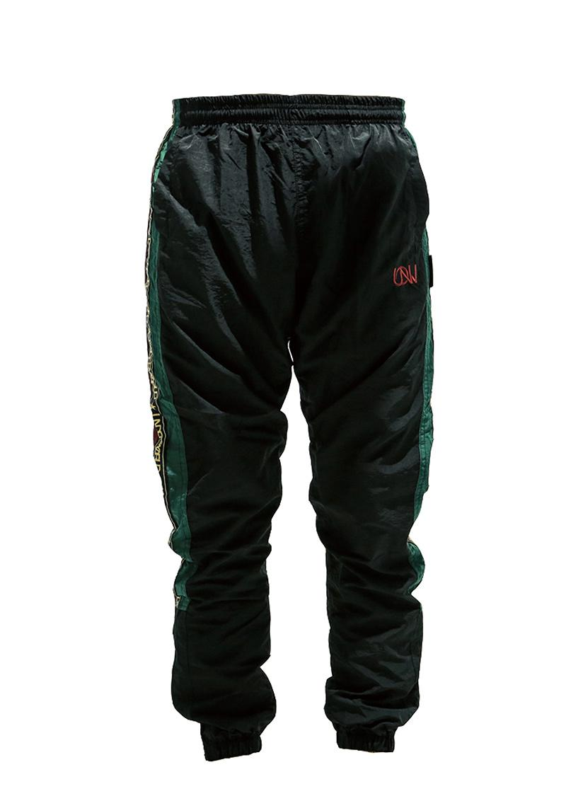 "Men's Windbreaker Training Pants Model F3 ""MAX"" Green/Red"