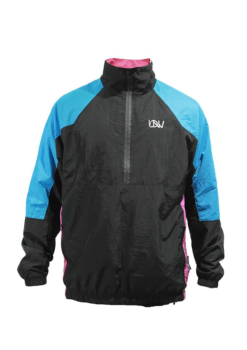 Men's Windbreaker Jacket F3 MAX Black/Blue/Purple